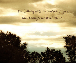 falling, memories, and text image