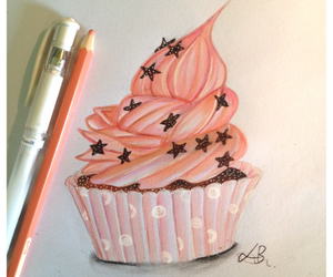 art, creative, and cupcake image
