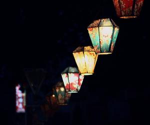 light, night, and lamp image
