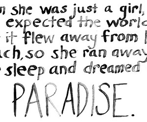 coldplay, paradise, and Dream image
