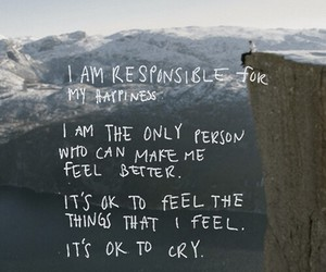 quote, happiness, and cry image