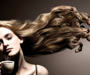 horse, hair, and coffee image