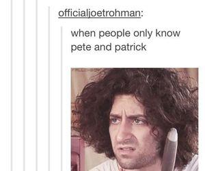 fall out boy, patrick stump, and pete wentz image