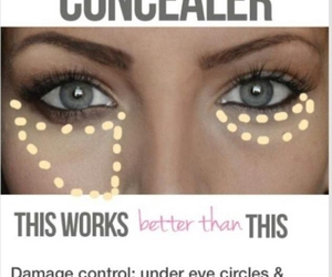 eyebrows, makeup, and concealer image