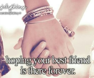 best friends, justgirlythings, and forever image