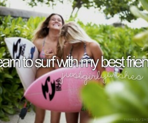 best friends, learn, and surf image