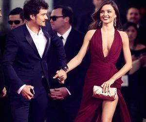 miranda kerr, dress, and couple image