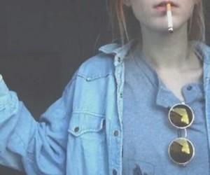 grunge, smoke, and cigarette image