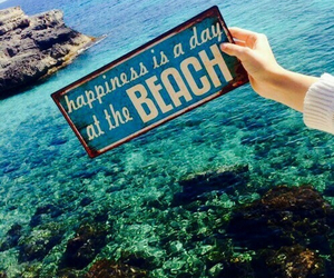 beach, summer, and happiness image