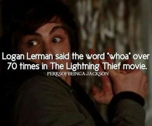 percy jackson, whoa, and logan lerman image