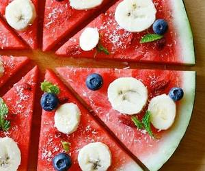food, fruit, and pizza image