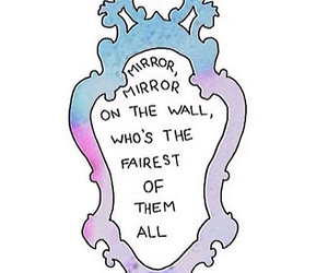 mirror, wall, and fairest image