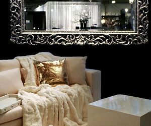 home, interior, and gold image