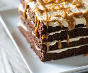 cake, chocolate, and caramel image