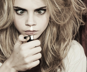 cara delevingne, model, and fire image