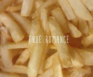 food, romance, and fries image