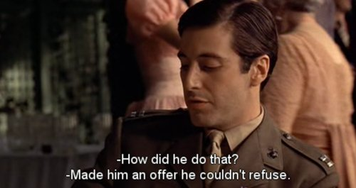 al pacino, caption, cinema, film, godfather - image #201348 on ...