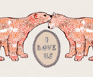 bear, love, and drawing image
