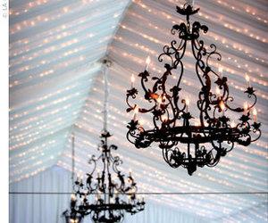 black, decor, and chandelier image