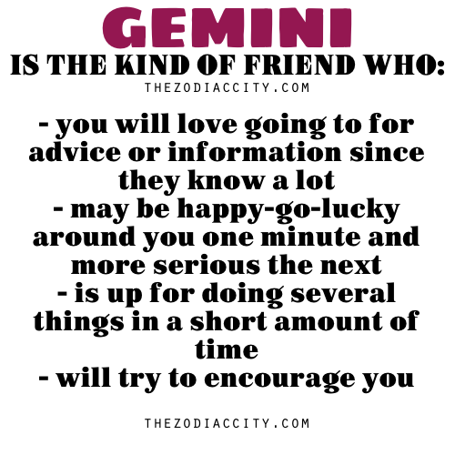 Gemini in friendship