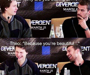 divergent, theo james, and ansel elgort image
