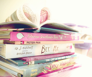 book, pink, and heart image