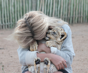 girl, cute, and animal image