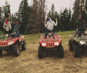 country, quad, and forest image