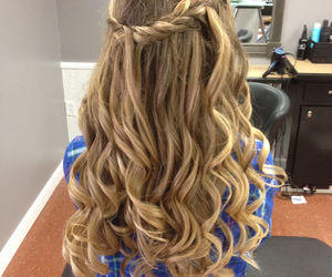 curls, formal, and hair image