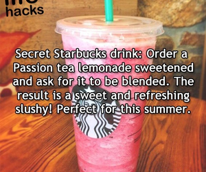 starbucks, life hacks, and drink image