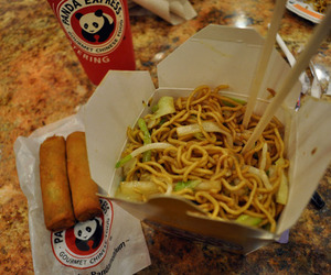 chinese food, take away, and spring roll image