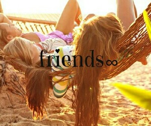 friends and girls image