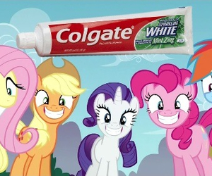 MLP, my little pony, and colgate image