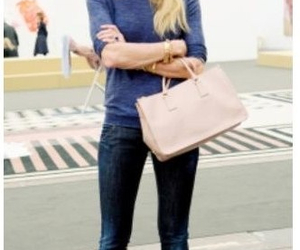 bag, elle macpherson, and jeans image