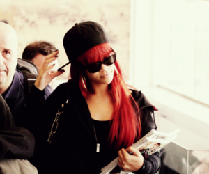 rihanna, red hair, and celebrity image