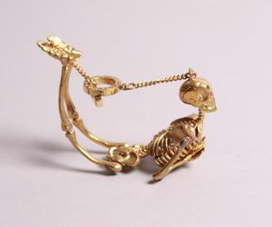 skeleton, bracelet, and gold image