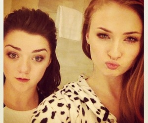 sophie turner, game of thrones, and maisie williams image