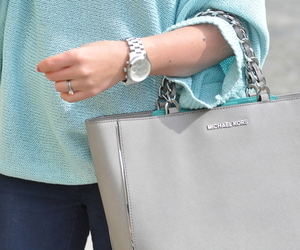 fashion, blue, and bag image
