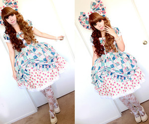bow, cute, and dress image