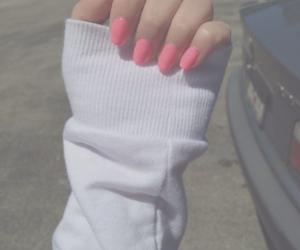 nails, hand, and pink image
