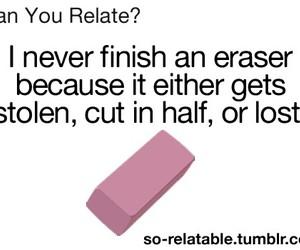 eraser, funny, and true image