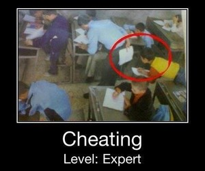 cheating, funny, and school image