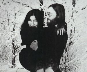 john lennon, yoko and john, and Yoko Ono image