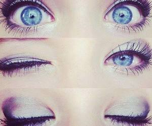 eyes, blue, and makeup image