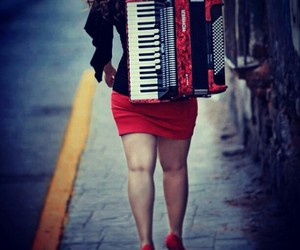 accordion, girl, and mexican image