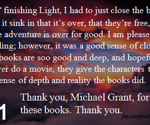 book, michael grant, and gone series image
