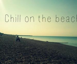 beach, brighton, and chillin image