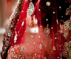 red and bridal image
