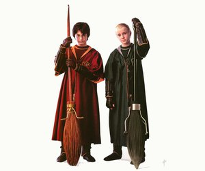 draco malfoy, harry potter, and harry potter 7 image
