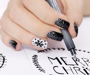 art, merry christmas, and nail tutorial image